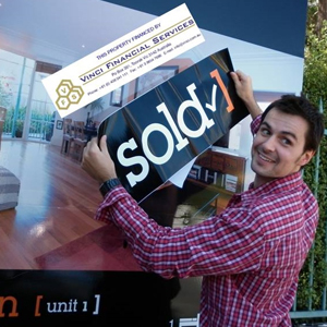 happy man at house sale